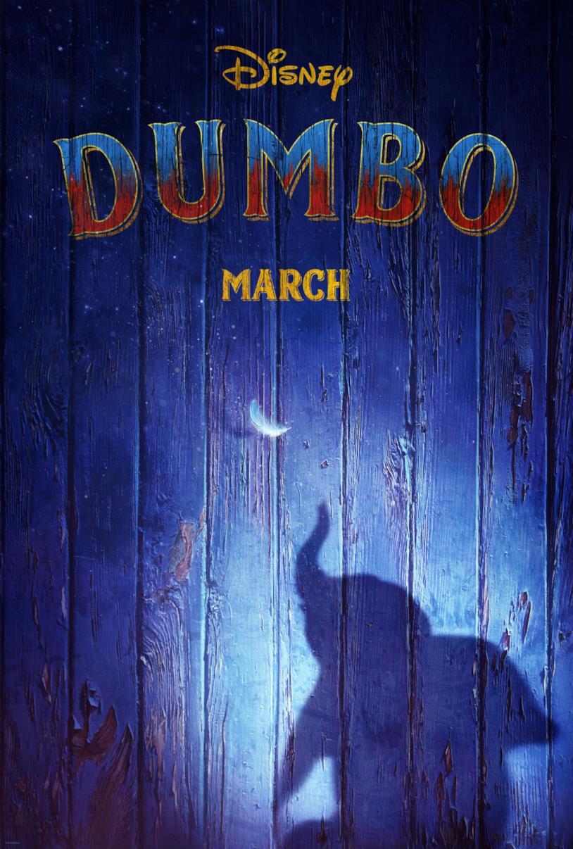 Il poster internazionale di Dumbo di Tim Burton