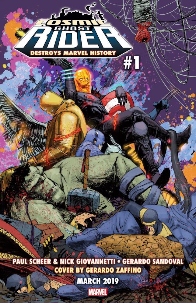 La copertina di Cosmic Ghost Rider Destroys Marvel #1