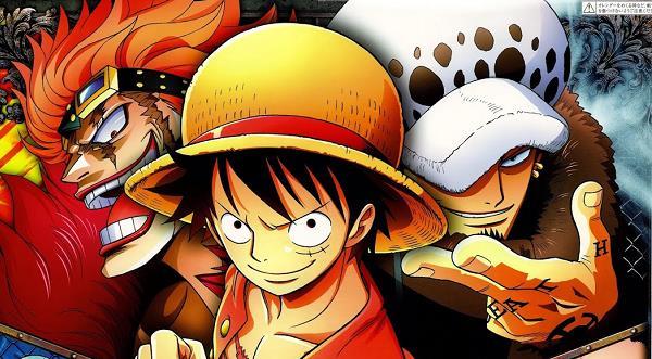 One Piece Rufy Law e Kid