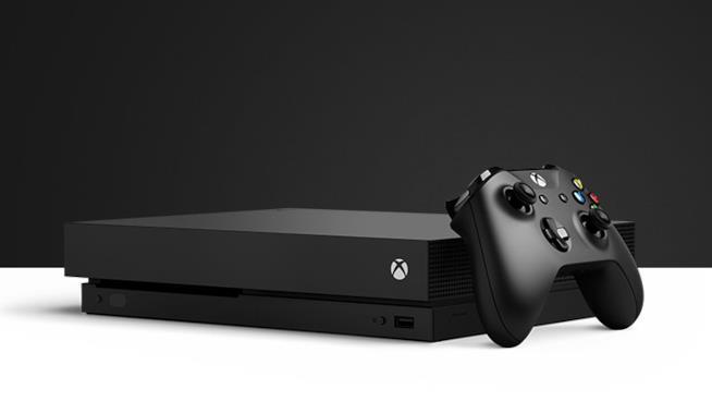 Un'immagine promozionale di Xbox One X