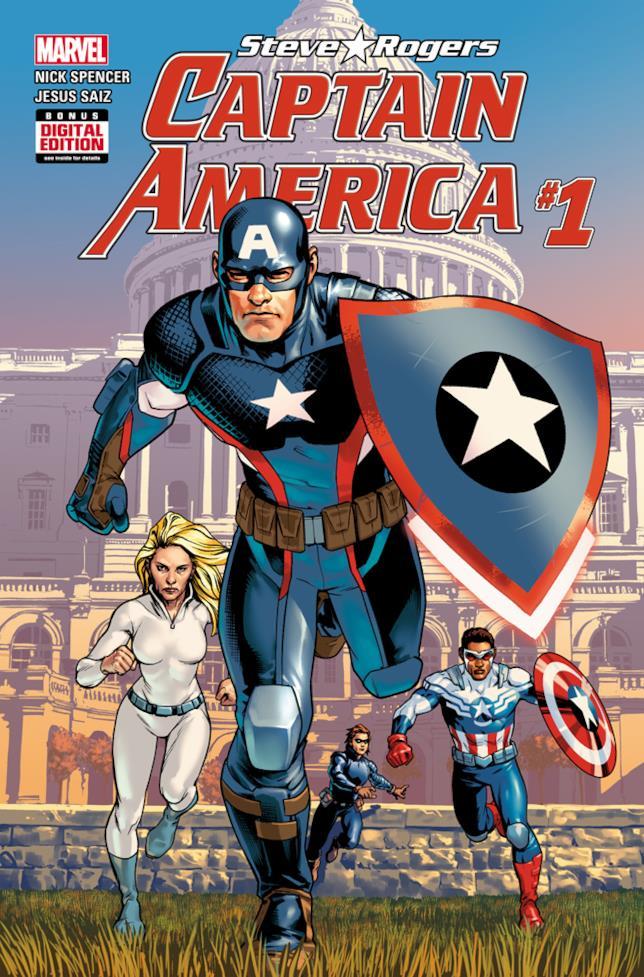 La copertina del primo numero di Captain America: Steve Rogers