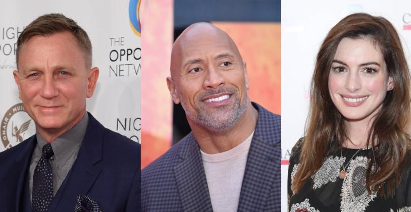 Daniel Craig, Dwayne Johnson e Anne Hathaway