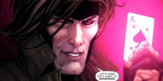 Un'immagine del fumetto di Gambit