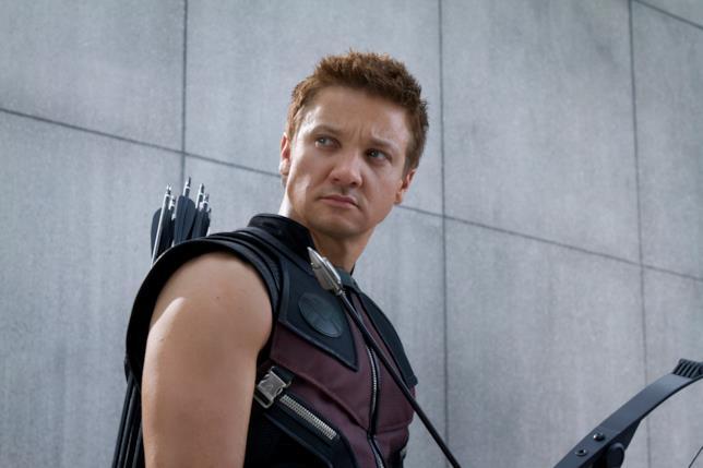 Jeremy Renner come Occhio di Falco in Avengers