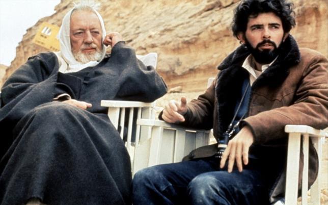 George Lucas e Alec Guinness