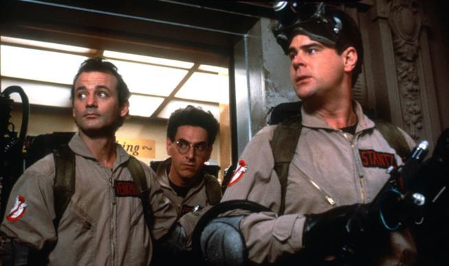 Dan Aykroyd, Bill Murray e Harold Ramis in Ghostbusters di Ivan Reitman