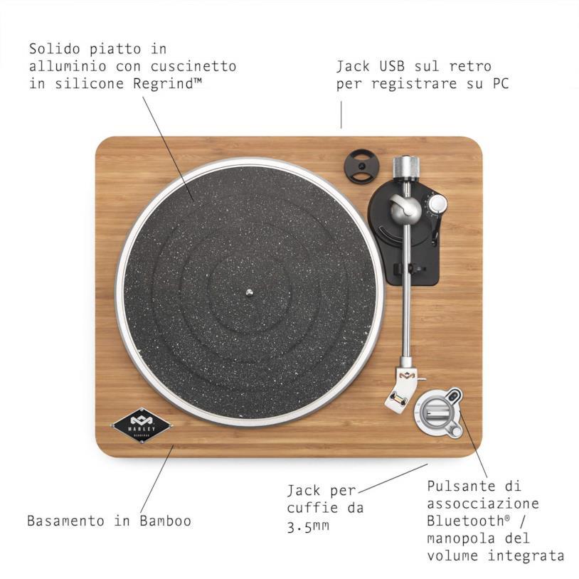 Le caratteristiche della versione wireless del giradischi Stir It Up
