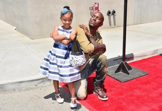 L'attore Tyrese Gibson e la figlia