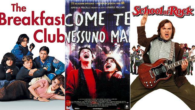 Locandine dei film The Breakfast Club, Come Te Nessuno Mai, School of Rock