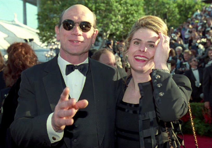 Tommy Lee Jones con la moglie dell'epoca