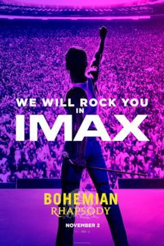 La sagoma di Freddie Mercury nel poster IMAX del biopic