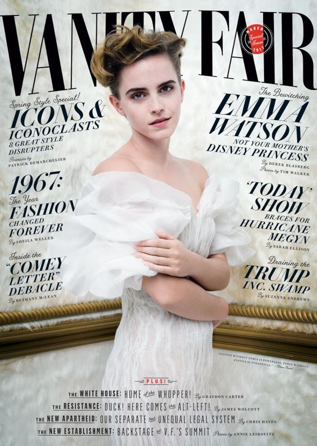 Emma Watson sulla copertina di Vanity Fair
