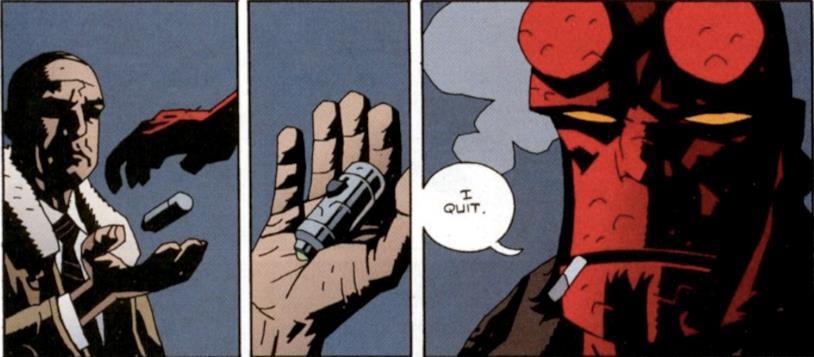 Hellboy si dimette da membro del B.P.R.D.