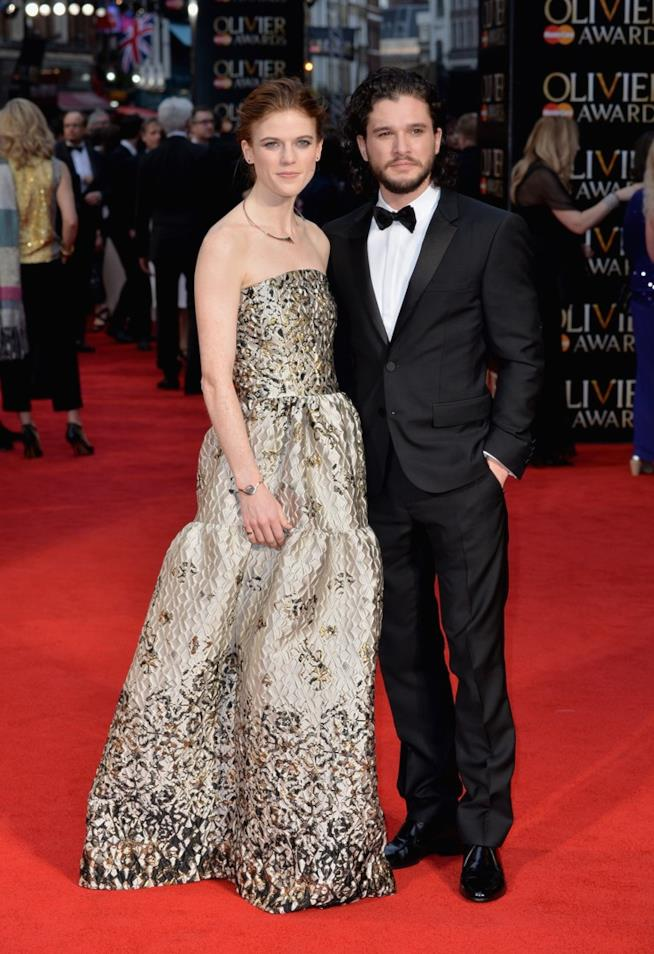 Kit Harington e Rose Leslie agli Olivier Awards