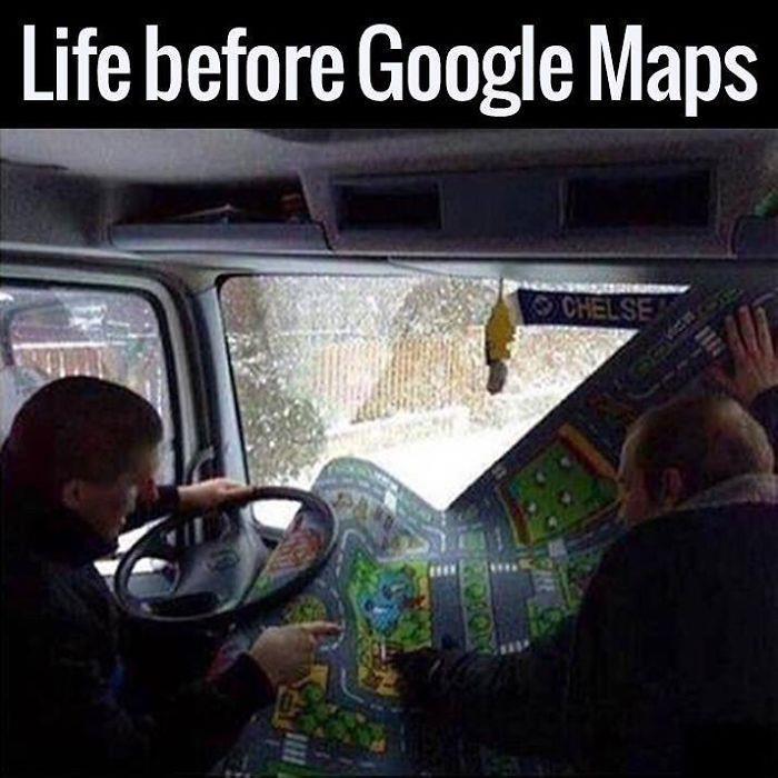 Prima dell'avvento del navigatore, si utilizzavano le mappe stradali