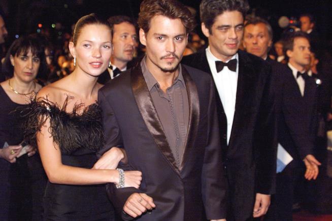Primo piano di Johnny Depp e Kate Moss