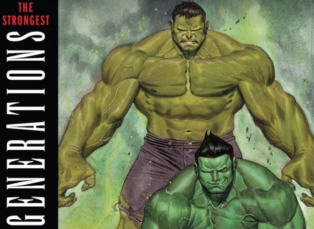 Due generazioni di Hulk a confronto in Generations
