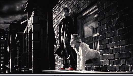 Una scena del film Sin City del 2005