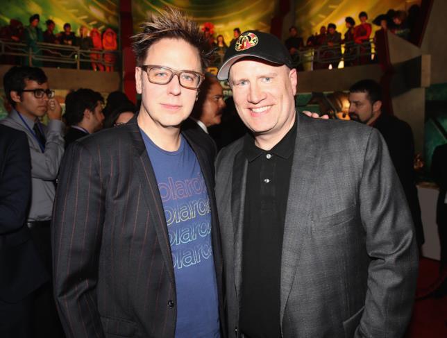 James Gunn insieme a Kevin Feige