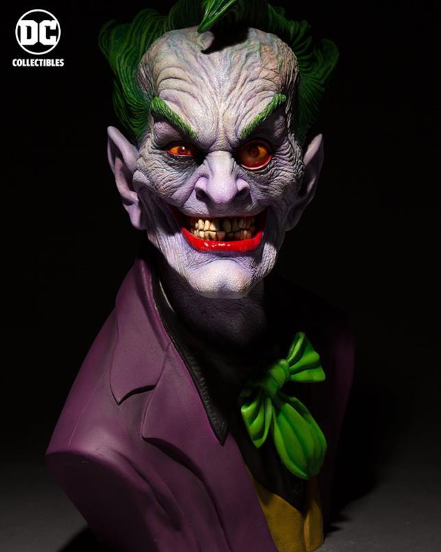 Il busto di Joker scolpito da Rick Baker