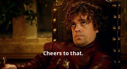 GIF di Tyrion che brinda