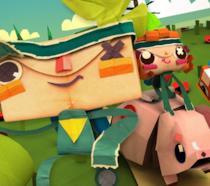I due protagonisti di Tearaway Unfolded sulla cover del gioco