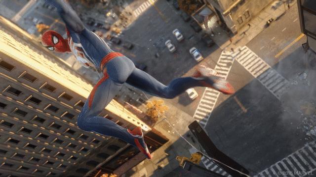Una GIF del nuovo videogame di Spider-Man