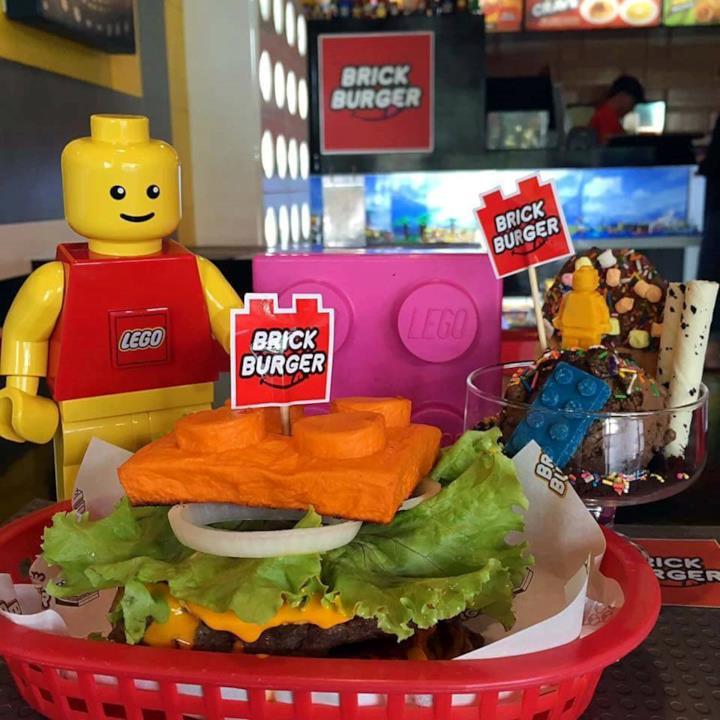 Un hamburger del Brick Burger