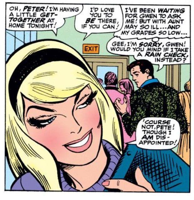 Gwen Stacy in un passo del fumetto