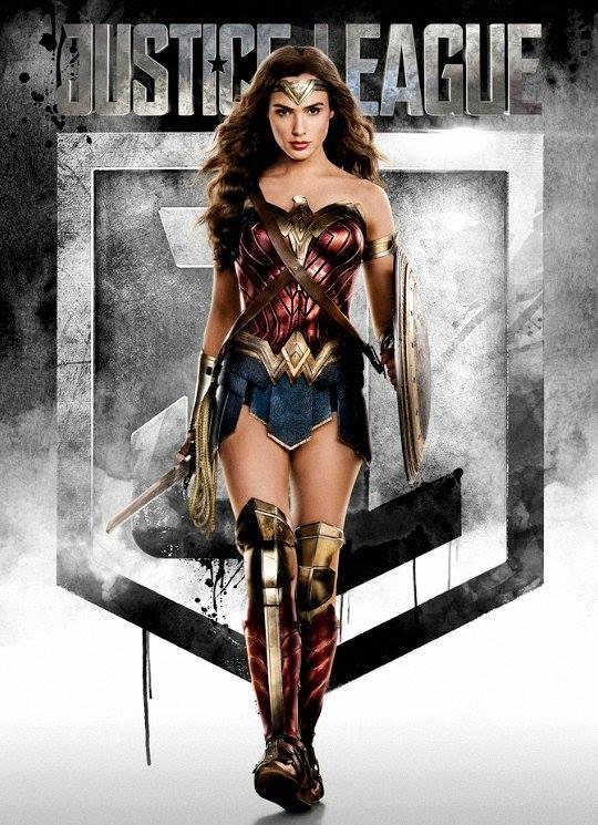 Gal Gadot nei panni di Wonder Woman in una locandina di Justice League