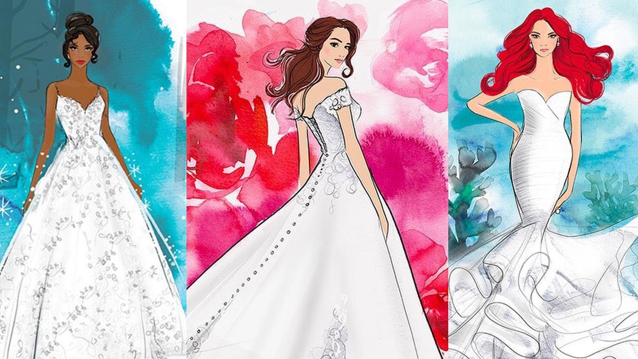Disney svela i suoi vestiti da sposa ispirati alle Principes