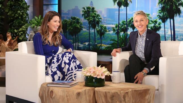 Foto di Jessica Biel con Ellen DeGeneres