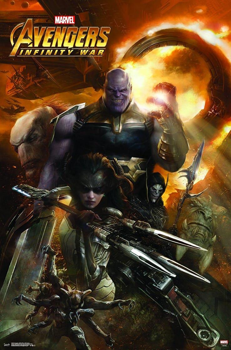 Poster di Avengers: Infinity War con Thanos