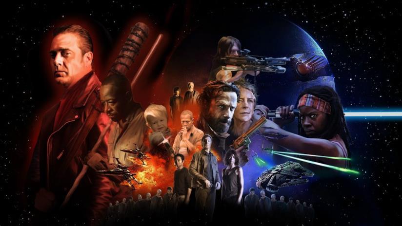 I protagonisti di The Walking Dead in un poster di Star Wars