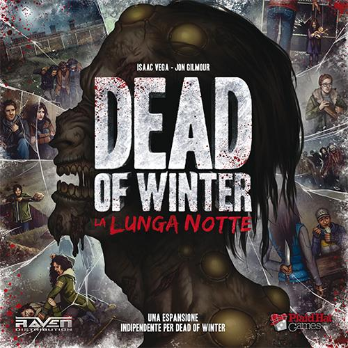 La copertina della scatola di Dead of Winter: La Lunga Notte