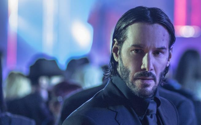 Keanu Reeves in una scena di John Wick - Capitolo 2