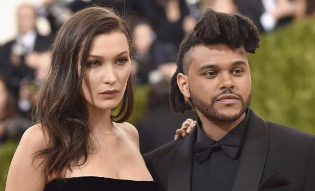 Bella Hadid e The Weeknd all'epoca della loro relazione