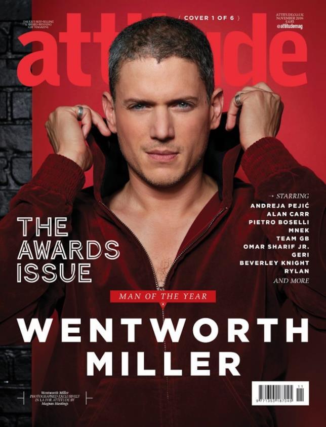 """Wentworth Miller è l'""""Uomo dell'Anno"""" di Attitude"""