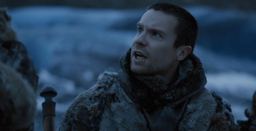 Gendry Baratheon a Grande Inverno, con espression stupita