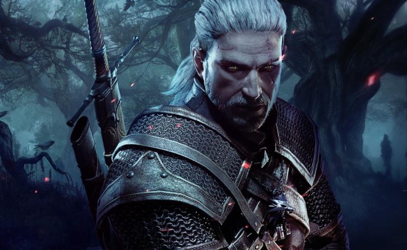 Geralt di Rivia nella cover art di The Witcher 3 Wild Hunt