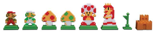 Pedine nel Monopoly a tema Mario Bros.