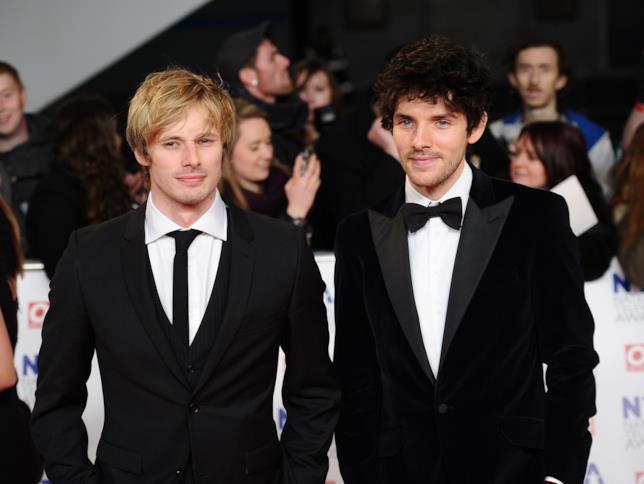 Colin Morgan e Bradley James sul red carpet