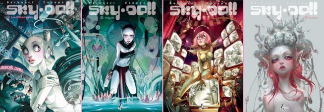 Le copertine dei volumi di Sky Doll di BAO Publishing