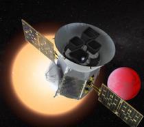 Rappresentazione del telescopio spaziale TESS della NASA