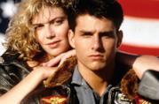 Tom Cruise e Kelly McGillis nel poster del primo Top Gun