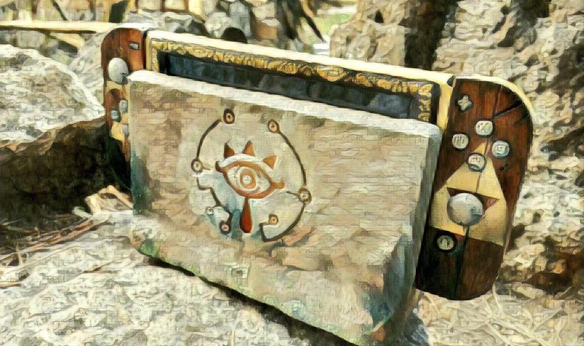 Lo Switch a tema Zelda di MakoMod