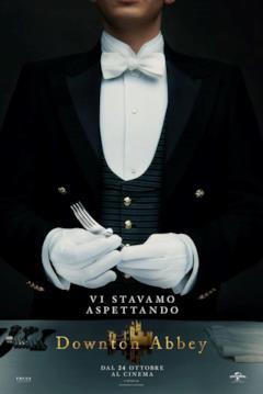 Andy regge una forchetta nel poster di Donwton Abbey
