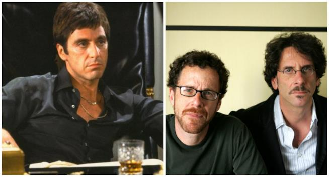 Un collage tra i fratelli Coen e Scarface