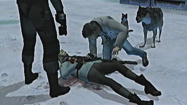 Otacon piange la morte di Sniper Wolf