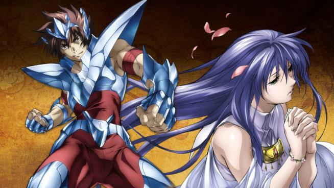 Tenma e Atena sulla cover della seconda stagione di  Lost Canvas